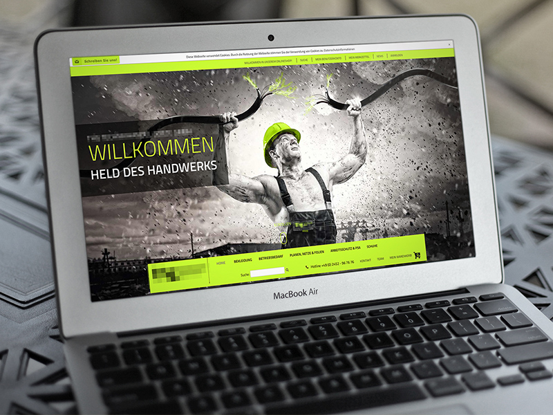 Weblayout Technik-Onlineshop